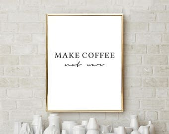 Coffee Print, Coffee Lover Gift, Coffee quote, Coffee poster, Office Decor, Home Decor, Kitchen Wall Decor, Coffee Wall Art, Minimal Poster