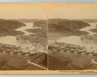 Stereoview Card, The Ide Fjord from the Fortress of Fredrikssten, Norway, Underwood 1897, No. 257