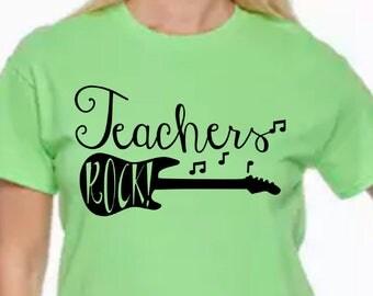Custom teacher shirt-Teacher Shirts-Teachers Rock Shirt-Music Teacher-Teacher Tshirt-Teacher Life-Teaching Shirt-Teaching Music Shirt