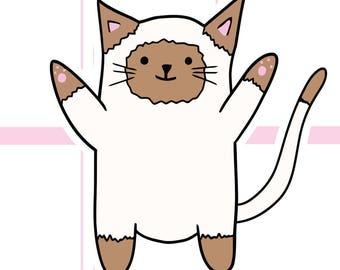Milo the Cat Die Cut | Planner Stickers | Multiple styles