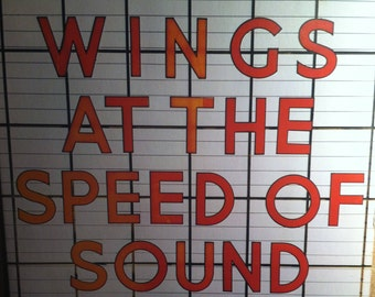 Paul McCartney Wings At The Speed Of Sound Vinyl Rock Record Album