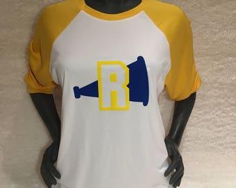 Riverdale River Vixens Shirt / Vixens Shirt / Cheer Shirt / Riverdale Gift / Cheryl / Veronica / Betty / Yellow White Shirt / Baseball Tee