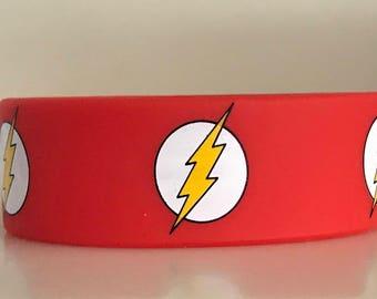 D.C. Comics Justice League The Flash Silicone Wristband Bracelet