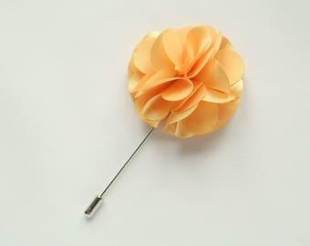 Yellow flower lapel pin wedding boutonniere wedding lapel pin groomsmen