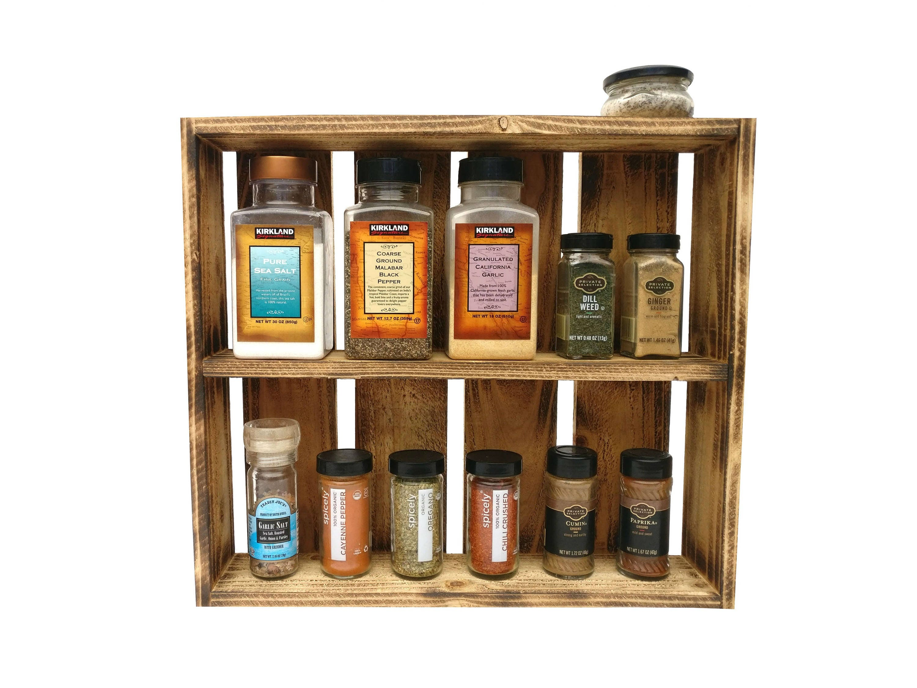 Rustic Spice Rack Wall Spice Rack Wooden Spice Rack Pallet