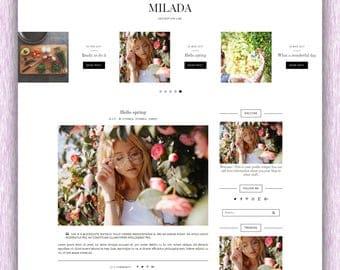 SALE! Milada | Responsive Minimalist Premade Blogger Template