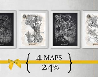 4 maps with 24% Discount {Special Discount Offer} Just select size and style!