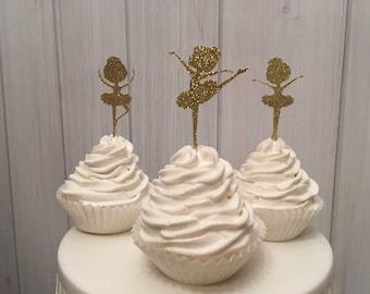Ballerina cupcake toppers,  cupcake topper