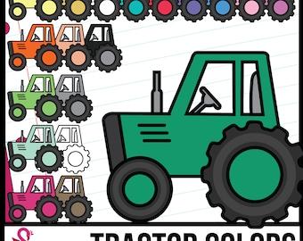 Tractor Colors Clip Art