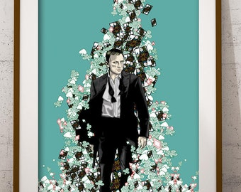 James Bond Art Print - James Bond Collectible - Limited Signed By Artist