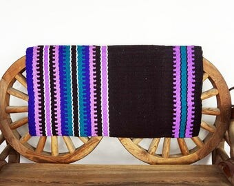Unique Hand Loomed Wool western Trail Barrel Show Horse Blanket Rug Pad 34 x 34