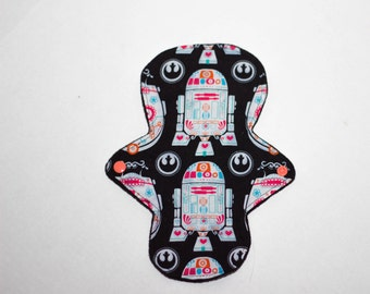 Cloth Menstrual Pad, Star Wars Fabric, 9in Light Pad, Ready To Ship, Mama Cloth, Windpro Backed, Custom Available