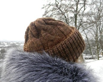 Winter Knit hat for women Ladies Winter Hat knitted brown hat wool winter accessories