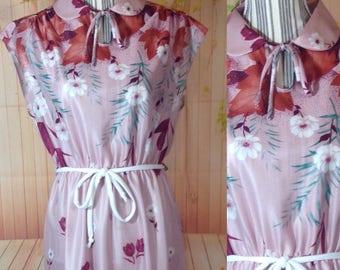 Vintage 70's Pink Polyester Dress