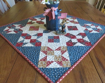 Quilted Table Topper - Stars and Four Patch