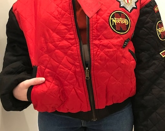 NWT early 90s crop bomber jacket