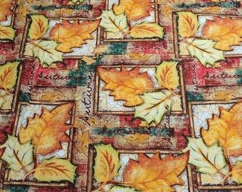 Autumn Patch Cotton Fabric