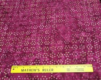 Tonga-Ruby (B2802) Batik Cotton Fabric from Timeless Treasures