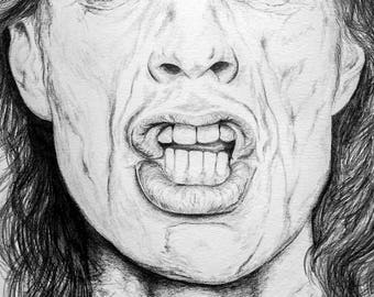 Celebrity portrait - Mick Jagger example