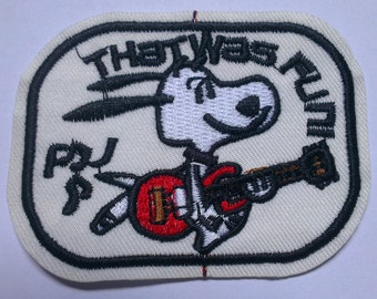 Snoopy Iron on Applique, Snoopy with Guitar Iron on Patch, Dog Snoopy Iron-on Application