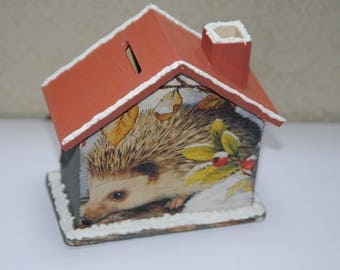 """Home of the Hedgehog"" wooden money box"