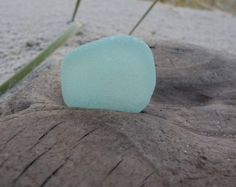 "Genuine Perfectly smoothed flawless Light Aqua blue green-Thick Sea Glass piece-Size 1""-Jewelry quality-Pendant size Sea Glass#J101#"