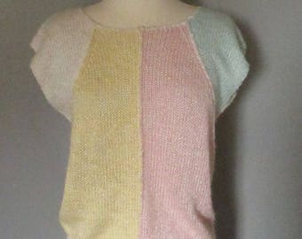 80s Pastel Colorblock Sweater