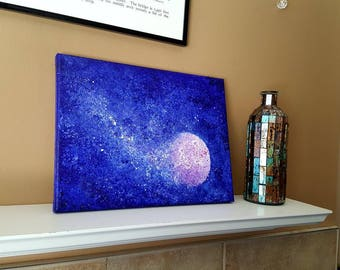 Space art, Star art, Night sky art, Astronomy gifts, Abstract wall art, Space painting, Surreal painting, Space nursery, Teacher gifts