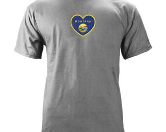 Original Montana Heart State Flag T-shirt