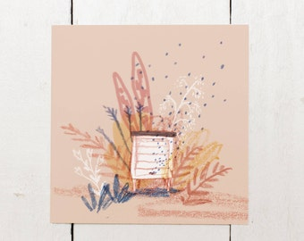 Beehive - Blank Square Greeting Card