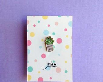 Enamel pin - succulent - little plant
