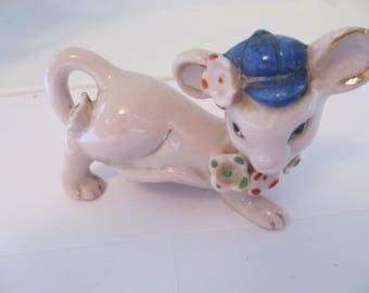 A PINK COW - Calf   very unusual made in Japan