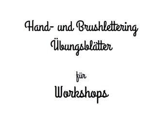 Handlettering Übungsblätter für Workshops