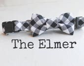 DOG COLLAR, Dog Collars, The ELMeR, Black and White, Buffalo Plaid Dog Collar, Girl Dog Collar, Boy Dog Collar, Cool Dog Collars