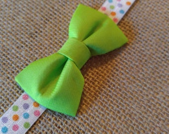 Lime Green Bow Headband | Infant to 2 years