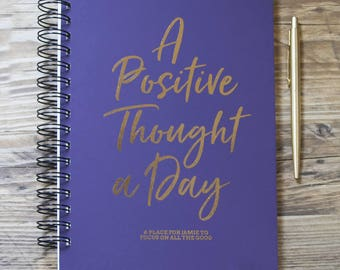 Personalised A Positive Thought A Day Notebook