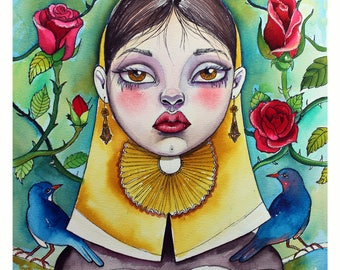 FINE SLUT MALLORCAN. Pop surrealism, blade of limited edition signed and numbered, by Elsa Palmer