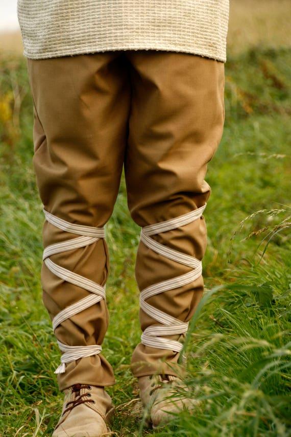 Germanic Thorsberg pants, 2nd century, made of medium tickness wool, Viking pants reenactment