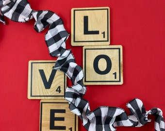 L-O-V-E Scrabble Tile Coaster Set - Perfect Romantic Gift for Your Sweetheart