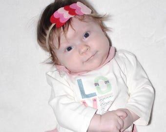 Valentines Day Headband - Valentines Day Gift - Girls Headband - Baby Headband - Heart Headband - Nylon Headband for Baby - Infant Headband