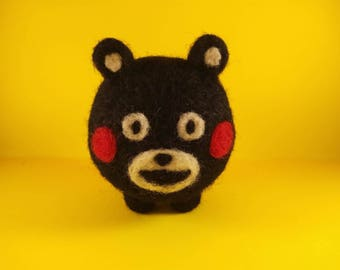Kumamon needle felted doll