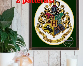 Hogwarts Crest Cross Stitch PDF Pattern | Harry Potter Cross Stitch Pattern | Geeky Cross Stitch Pattern |