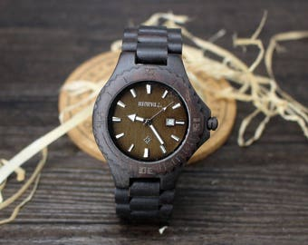 Personalized Mens Watch Mens Wooden Watch Engraved Wood Watch Personalized Wooden Watch Husband Gift Boyfriend Gift Gifts for Him Best Man
