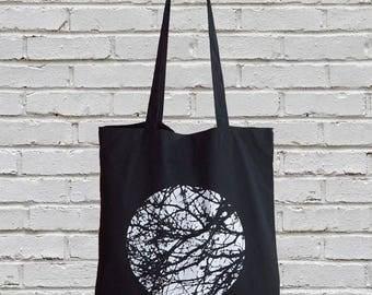 Sale - Imperfect Print - tote bag, tote, black tote bag, cotton bag, cotton tote bag, cotton tote, black tote