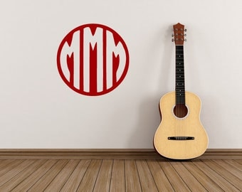 Monogram Triple Initial Sticker
