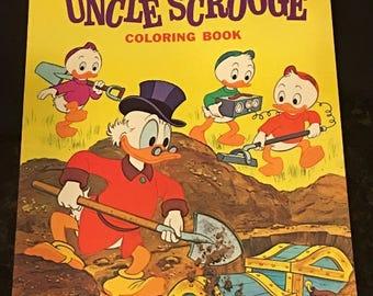 Walt Disney UNCLE SCROOGE Coloring Book Unused Vintage 1978 Whitman  #1046-6