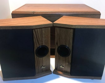Vintage dbx Soundfield 3X2 RS plus LS plus bookshelf speakers with db-SW2X6 subwoofer stereo system