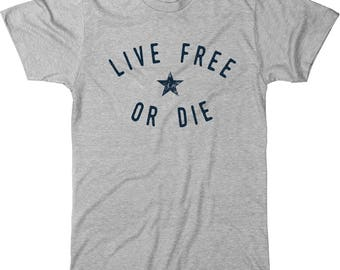 Live Free Or Die New Hampshire Motto Men's Tri-blend T-Shirt