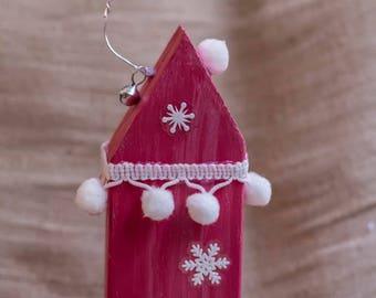 Christmas House, Wooden House, Christmas Gift, Handmade Christmas, Christmas Decor, Holiday House Decor, Little House, Christmas Ornament
