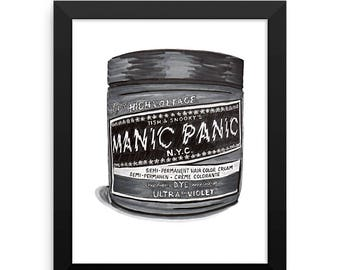 Manic Panic - Illustration Print 8x10